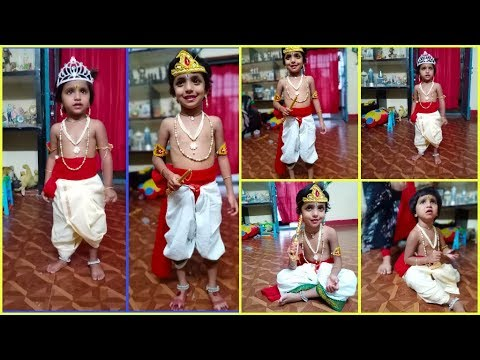 #2 Easy Methods To Drape Dhoti For Kids On Krishnastami | Krishna Makeup Look For Krishnastami |