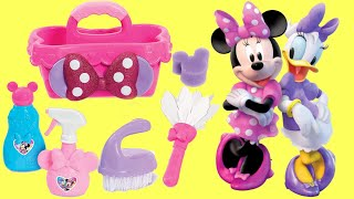 Minnie Mouse Bow-Toons Happy Helpers Cleaning Caddy Play Set with Daisy