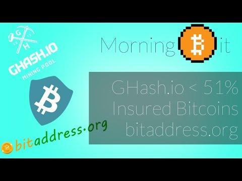 Ghash.io Prevents 51% + Insured Bitcoin Storage + bitaddress.org | Morning Bit Ep 37