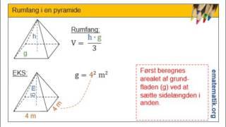 Rumfang i en pyramide