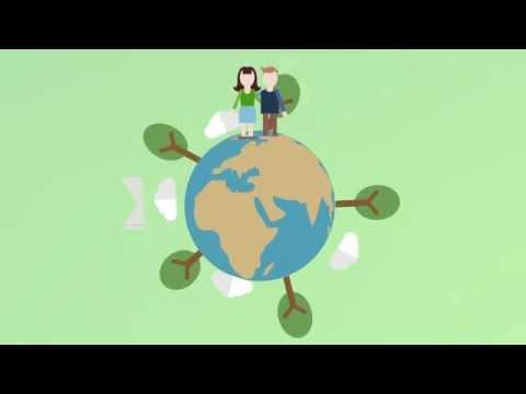 Cuidado del medio ambiente. Infografía animada [Gaia Mengos]