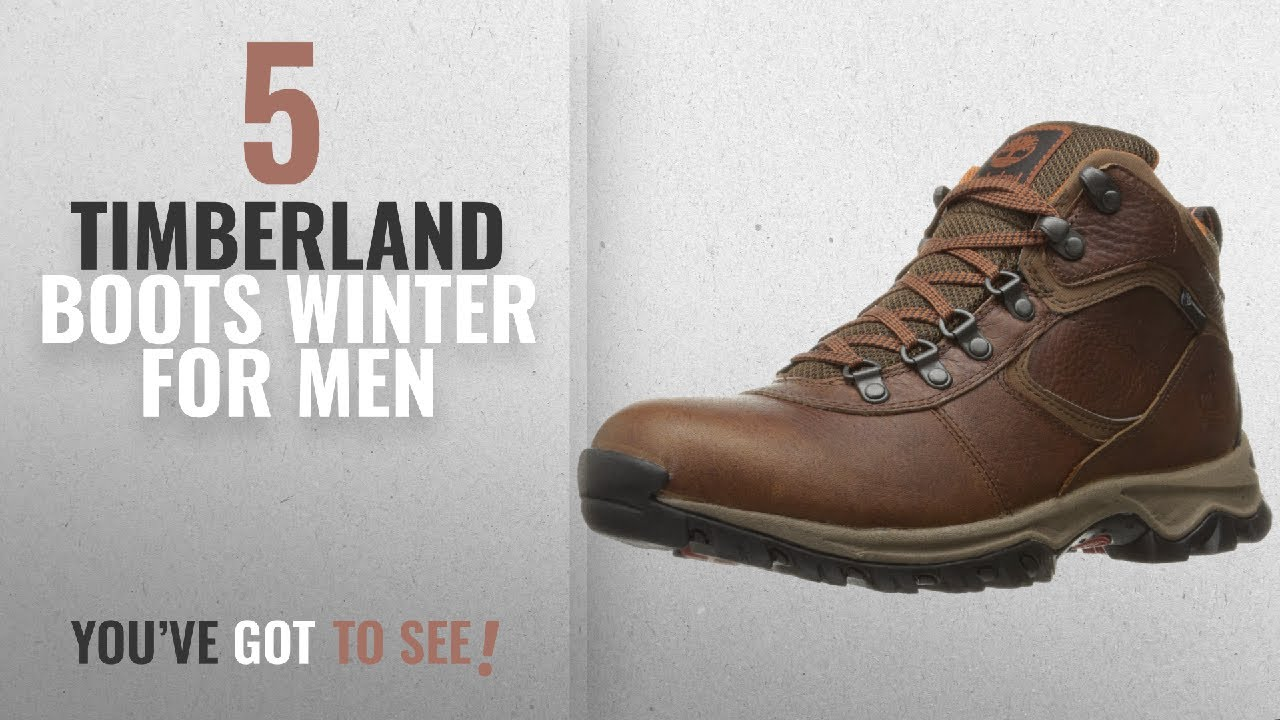 c6d0ccba72b Top 10 Timberland Boots Winter [ Winter 2018 ]: Timberland Men's MT.  Maddsen Mid Leather WP Winter