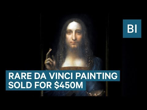 A Rare Leonardo da Vinci Painting Sells For A Record $450 Million