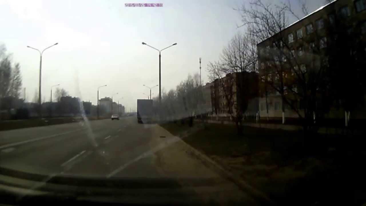 ДТП в Бобруйске: на записи видно, что водитель даже не собирался тормозить