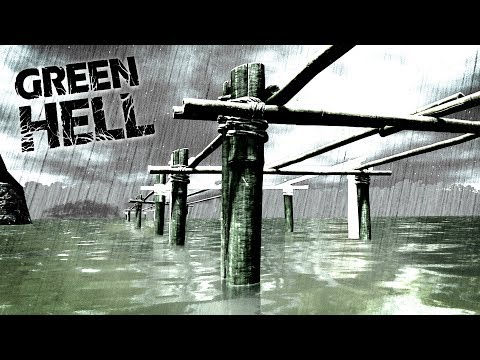 Green Hell - BUILDING A BRIDGE ACROSS THE WATER! Can We Get Across? - Green Hell Gameplay