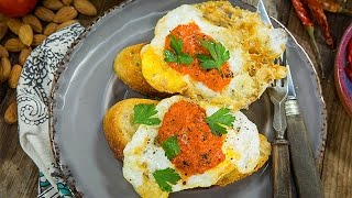 Recipe - Olive Oil Fried Eggs with Spanish Pantry Sauce – Hallmark Channel