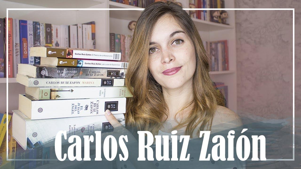 Todos mis libros de Carlos Ruiz Zafón - YouTube