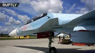 شاهد دقة الطيارين الروس في إلقاء القنابل من
