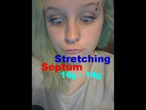 Stretching Septum 16g 14g Youtube
