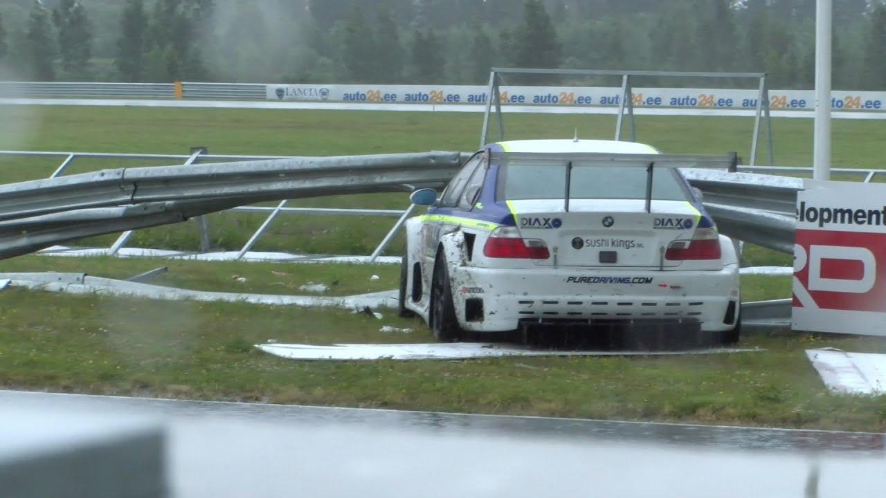 Jr Motorsport Bmw E46 Crash In Hankook Baltic 1000 Km Race Parnu