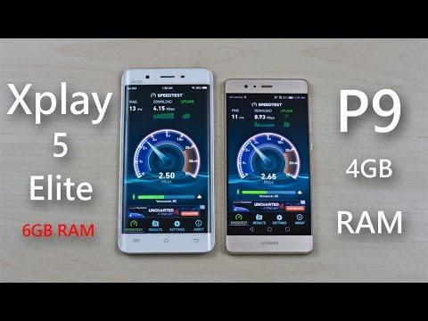 Vivo Xplay 5 Elite 6GB RAM vs Huawei P9 4GB RAM - Speed ...