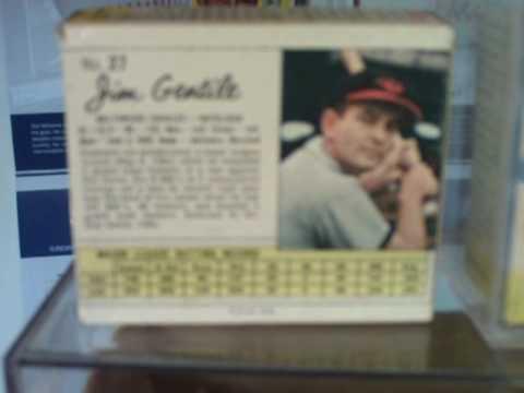 1962 Post Cereal Box With Baseball Cards Unopened 1962 Jello Baseball Box