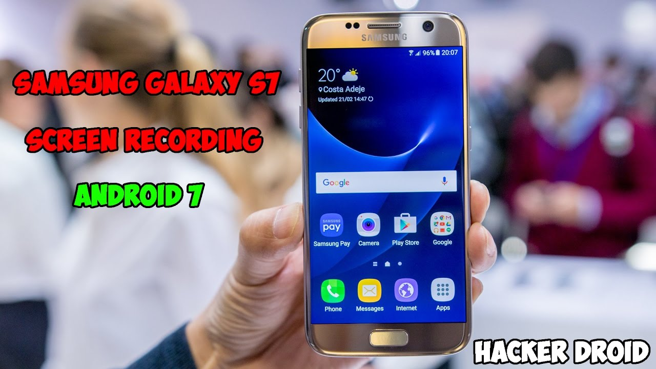 How to record screen on galaxy s6 edge plus