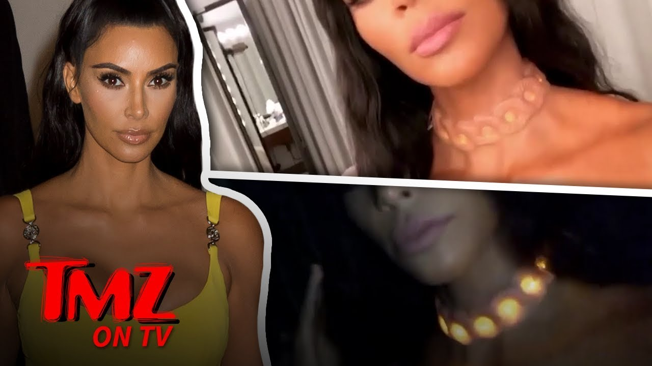 Kim K's Neck Is A Work Of Art | TMZ TV