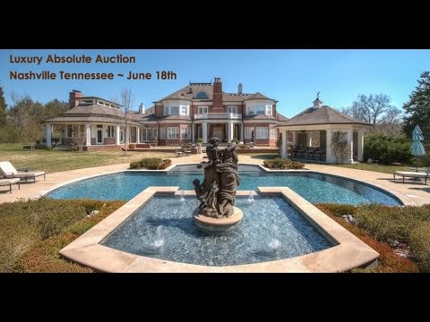 Luxury Nashville Tennessee Mansion For Sale By Auction