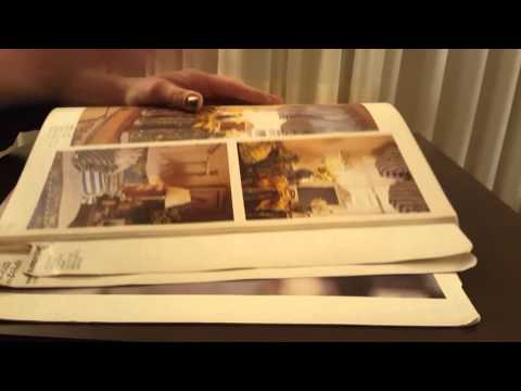 ASMR-Fast page turning  Retail counter sewing pattern book-silent-no talking