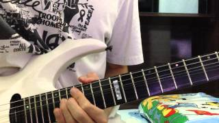 nightmare the world guitar solo cover
