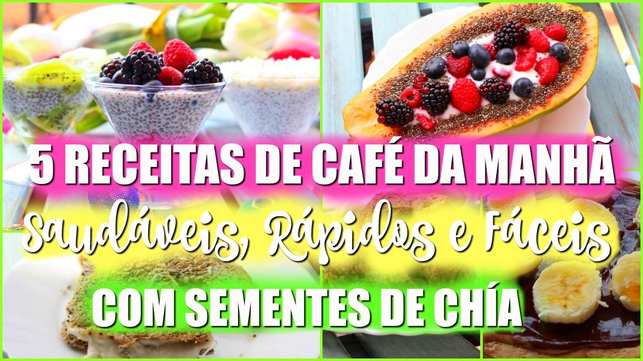 Top 5 IDEIAS DE CAFÉ DA MANHÃ FIT | RÁPIDO, GOSTOSO E SAUDÁVEL COM  QG29