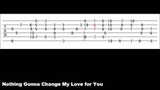 Nothing Gonna Change My Love for You (Guitar Tab)