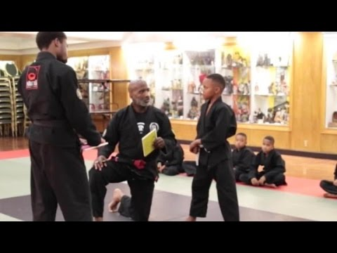 Karate instructor to student: It's OK to cry