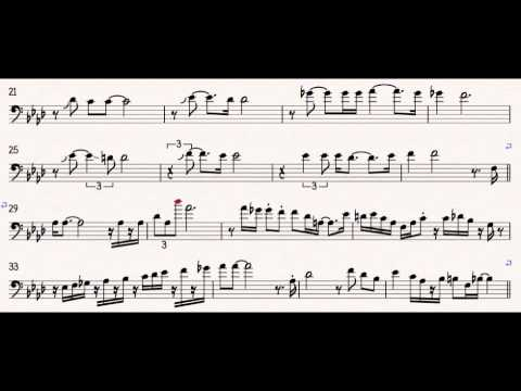 You're Mine You - JJ Johnson Trombone Solo Transcription