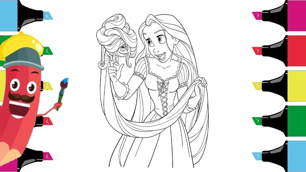 Rapunzel Coloring Pages Disney Princess Coloring Pages For Kids