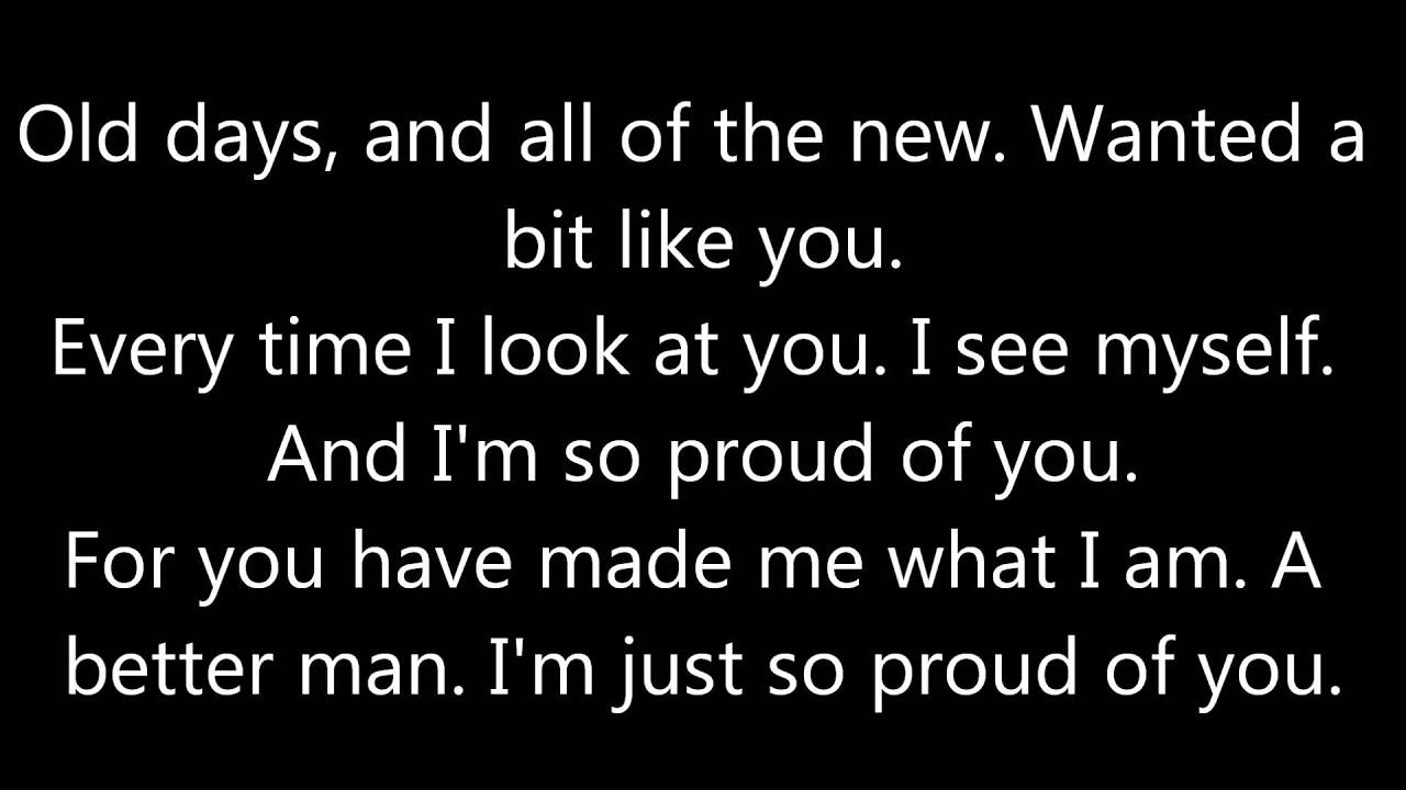 Alain Clark - Father & Friend *lyrics* - YouTube