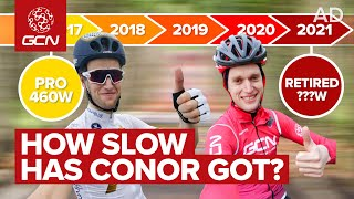 Hero to ?... | How Much Fitness Has Conor Lost Since He Was A Professional Cyclist?