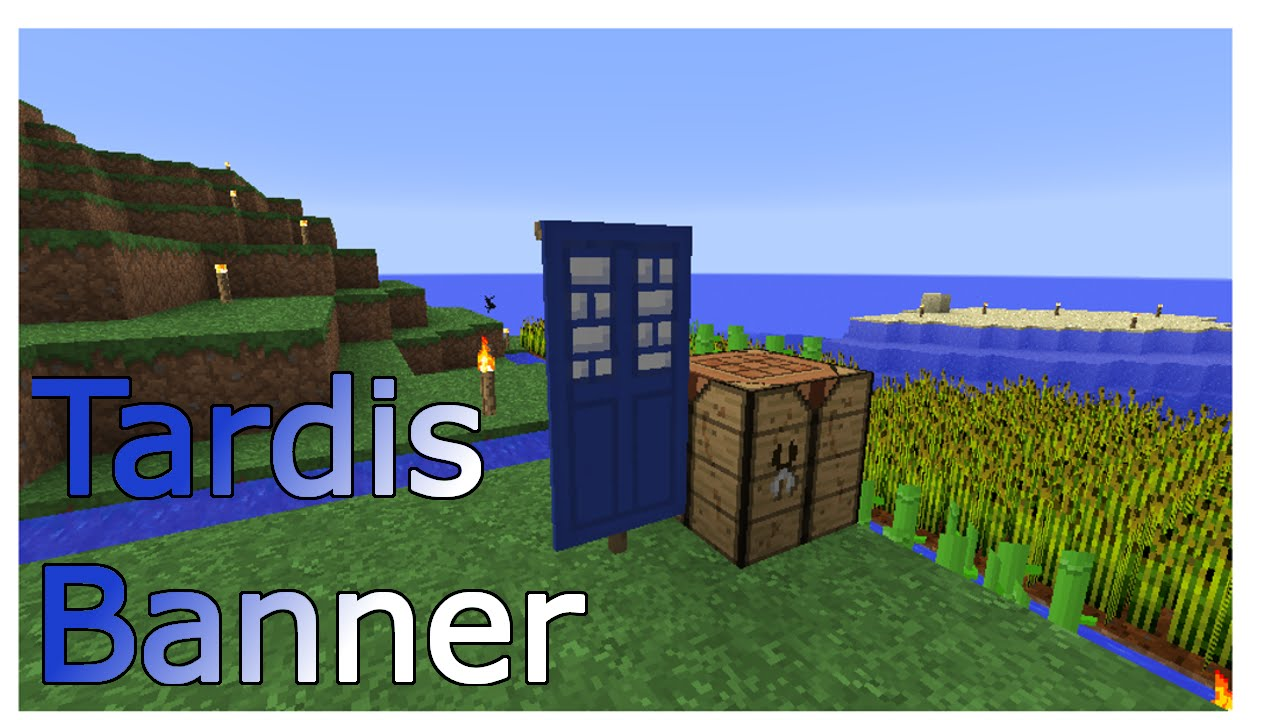 How To Make The Tardis Banner In Minecraft Youtube