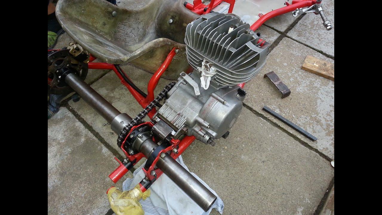 How to build a racing go kart - Rear engine bracket ČZ 125/516 for ...