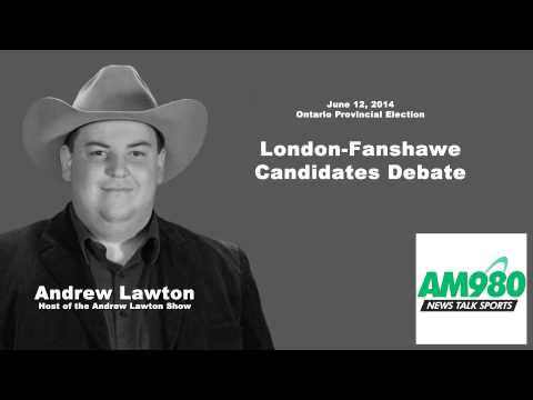 2014 Ontario Provincial Election: London-Fanshawe candidates debate (radio AM980)