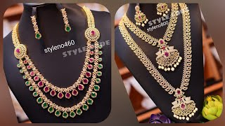 Premium High Quality Jewelry | NeckSet | Long & Short Harams | With Prices | Imitation Jewelry