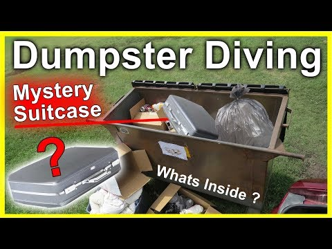Found Mystery Suitcase Dumpster Diving #289 Whats Inside