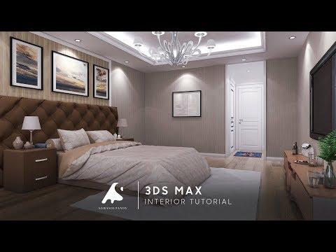 3Ds Max Interior Tutorial Bedroom Vray Photoshop