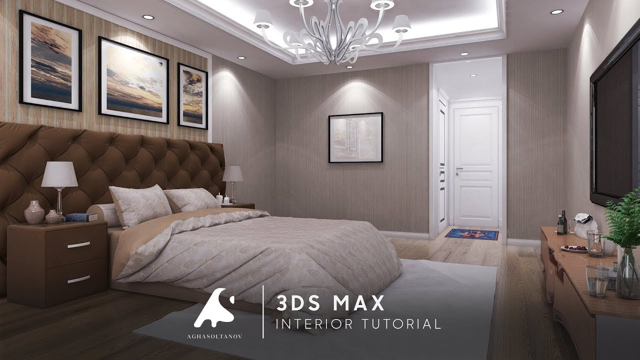3ds max interior tutorial bedroom vray photoshop 2016 youtube. Black Bedroom Furniture Sets. Home Design Ideas