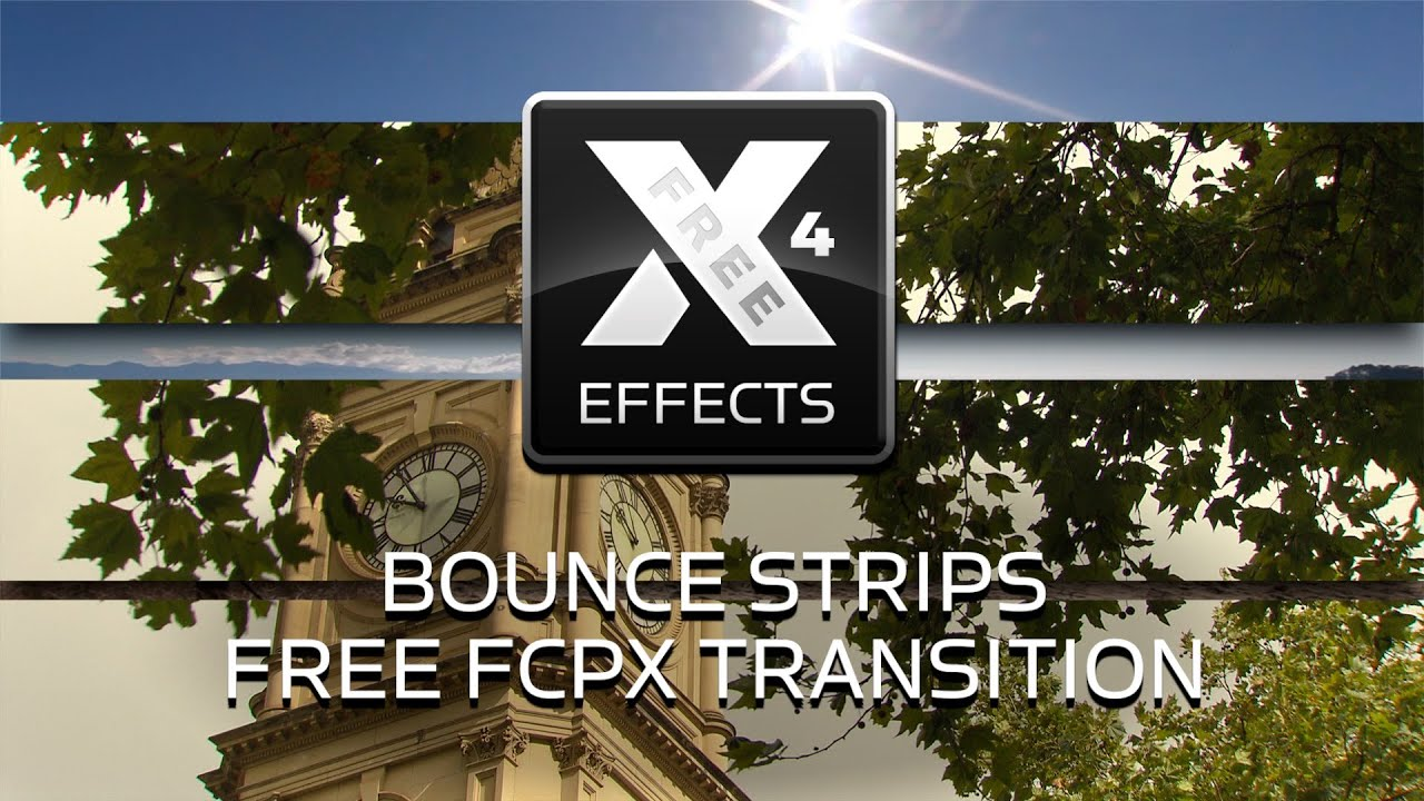 XEffects Bounce Strips Free Transition Plugin for Final Cut Pro X FCPX  #freeeffectfriday