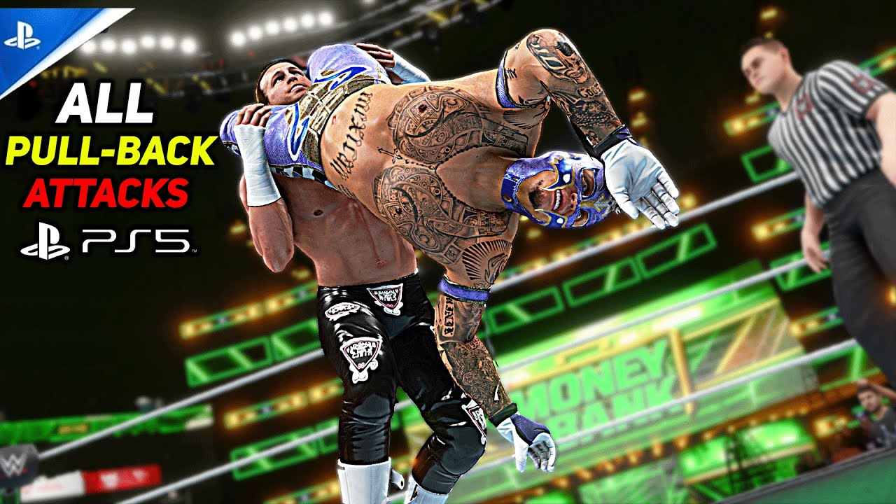 WWE 2K20 All Pull-Back Attack! PS5