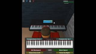 One Summer's Day - Spirited Away by: Joe Hisaishi on a ROBLOX piano. [Easy]