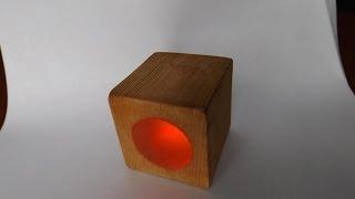 Креативный ночник своими руками из дерева в домашних условиях . Creative night light hand made