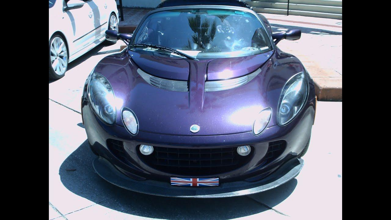 2005 Lotus Exige Roadster Purple DaytonaRiverside051714 - YouTube