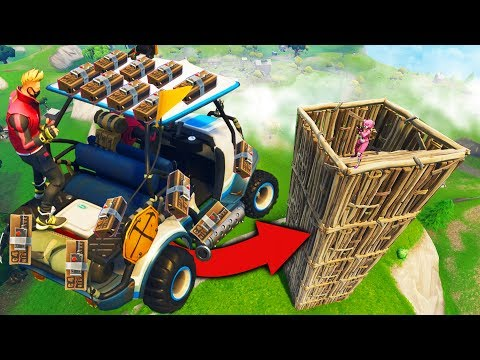 The C4 GOLF CART Stunt in Fortnite Battle Royale