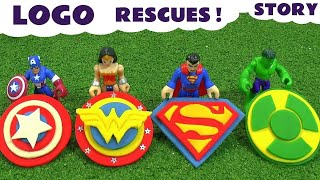 Hulk Play Doh Stop Motion Logo Theft with Avengers Captain America Superman & Wonder Woman TT4U