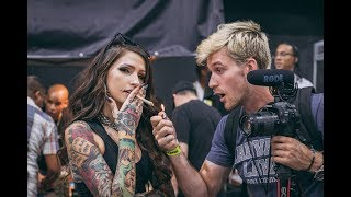 Filming at HIGHLIFE MUSIC FESTIVAL with ANGELA MAZZANTI (rich the kid, dexter, rjmrla, lil xan)