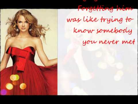 Taylor Swift- Red- Acoustic- Lyrics on screen