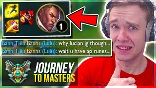 THESE ARE THE KIND OF GAMES I LOVE! MASTERS!!.. - Journey To Masters   League of Legends
