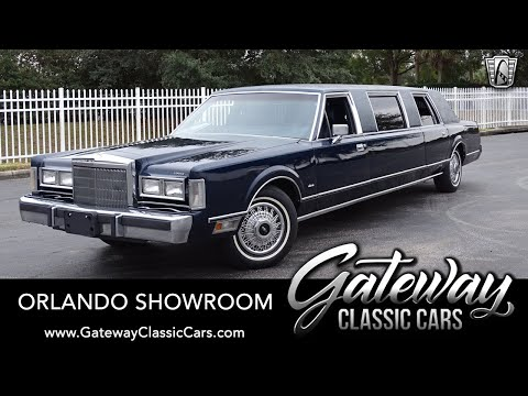 1988 Lincoln Town Car Limousine For Sale Gateway Classic Cars Orlando #1602
