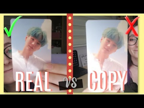 BTS OFFICIAL vs FAKE PHOTOCARDS