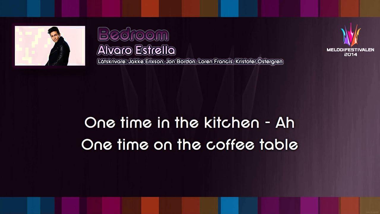 Alvaro Estrella Bedroom On Screen Lyrics Youtube