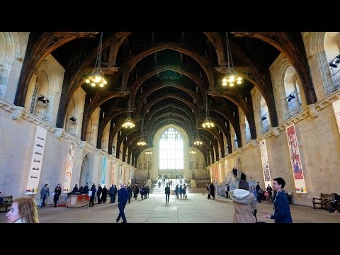 4K tour of Westminster Hall at the Houses of Parliament