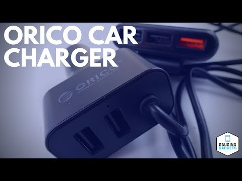 Orico Portable 5 Port Car Charger Review - UCP-5P - USB Car Kit